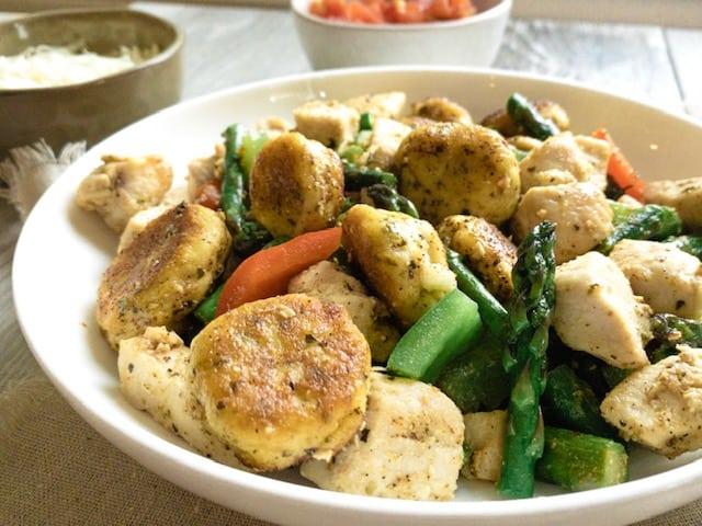 Keto Garlic Gnocchi Chicken