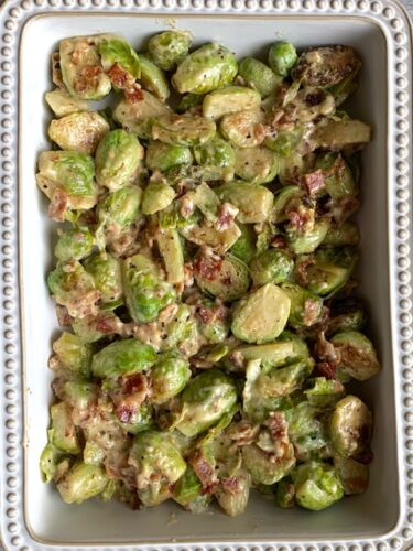 Keto Brussels Sprouts Casserole