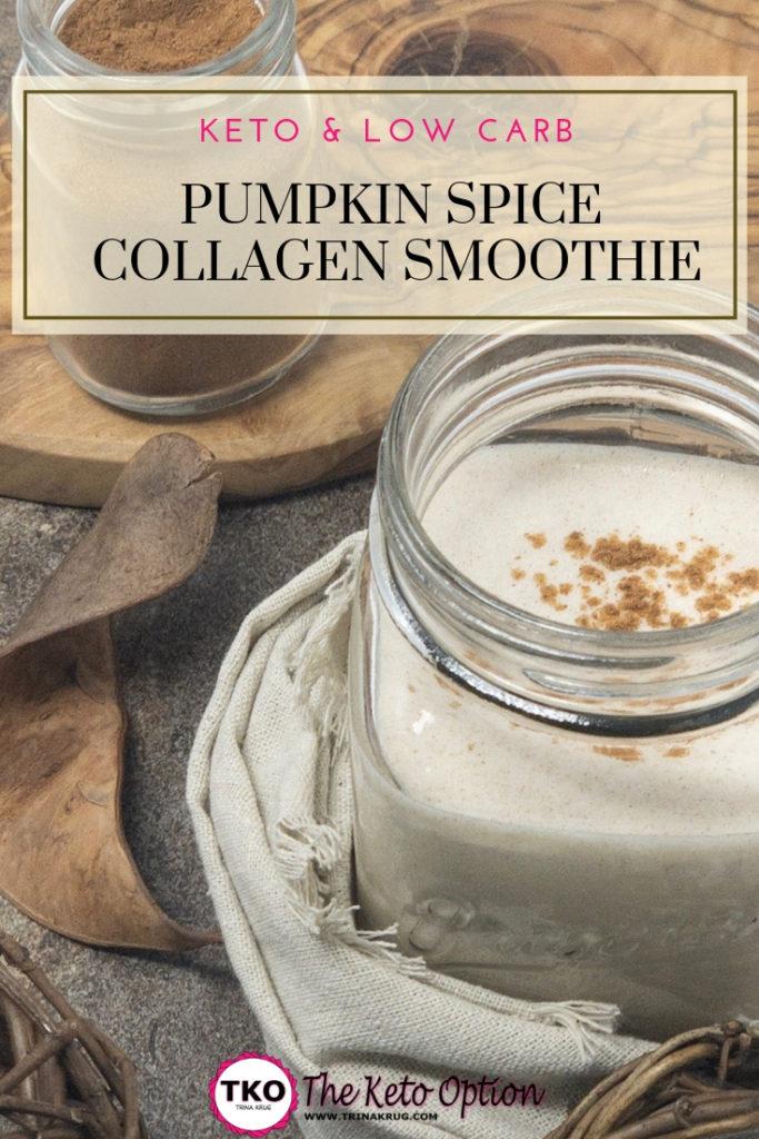 pumpkin spice collagen smoothie