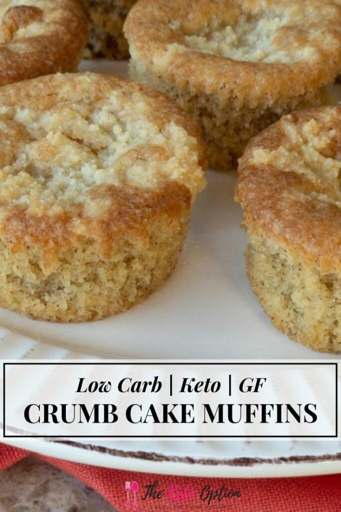Keto Cinnamon Crumb Cake Muffins