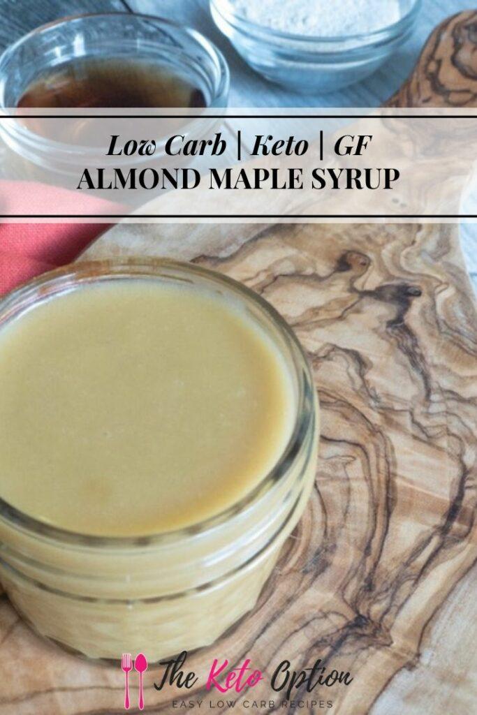 Keto Almond Maple Syrup