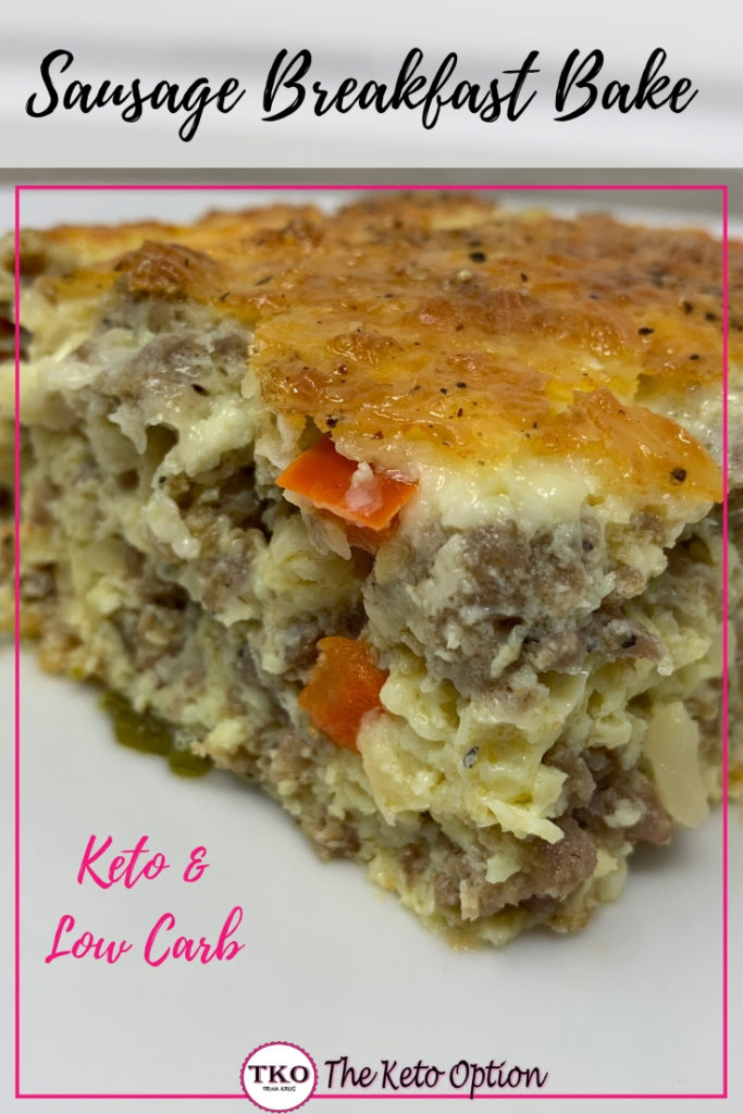 Keto Sausage Breakfast Bake