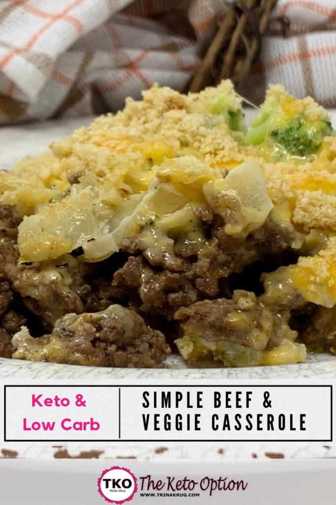 Keto Beef and Veggie Casserole