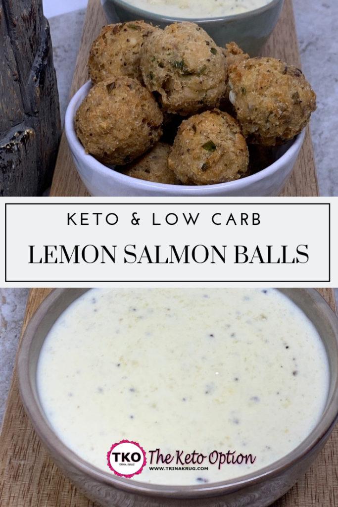 Keto Lemon Salmon Balls
