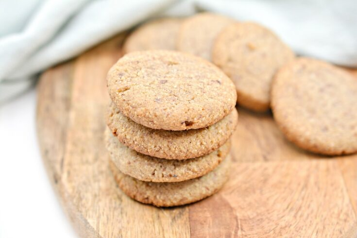 Keto Ginger Snaps on cutting board