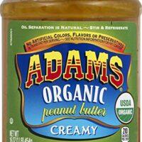 Adams Creamy Organic Peanut Butter Spread, 16 Ounce