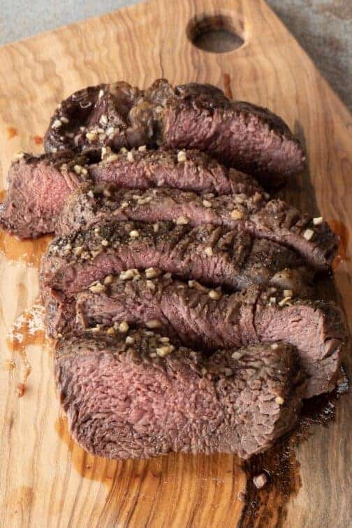 Keto Garlic Beef Tenderloin