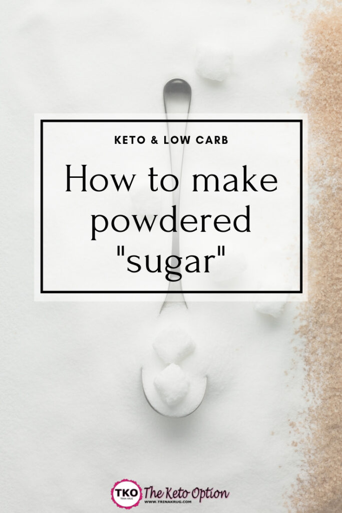 How to make powdered _sugar_