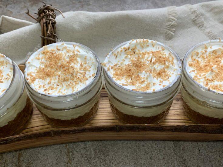 Keto No Bake Coconut Cream Pie Cups