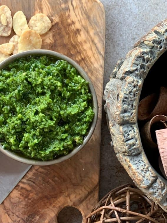 Garlic Lover's Pesto Spread