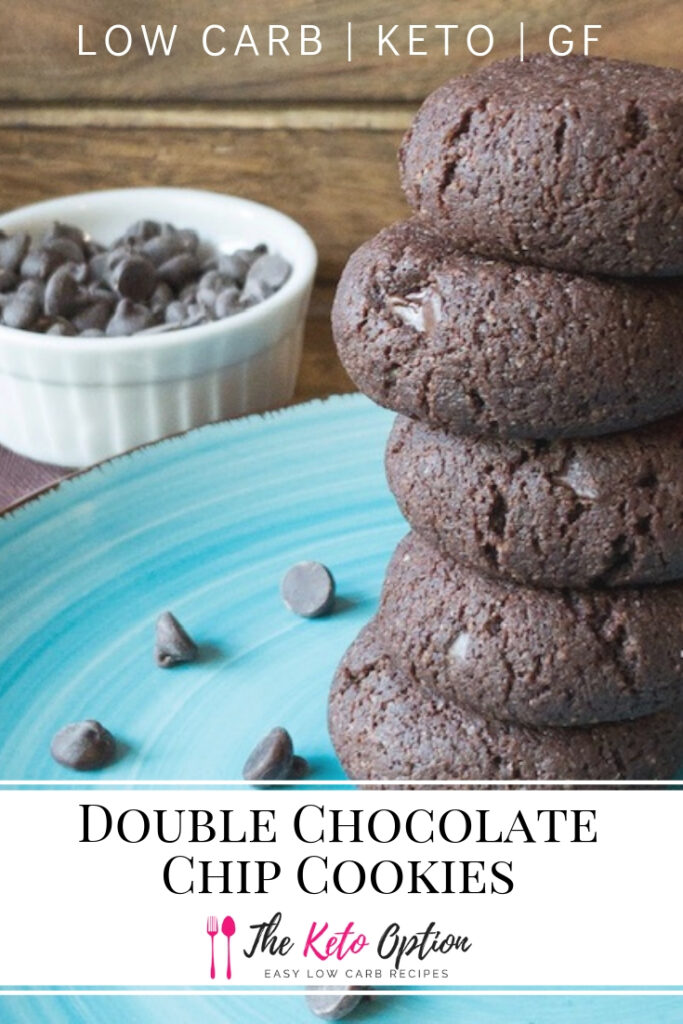 Low Carb Double Chocolate Chip Cookies