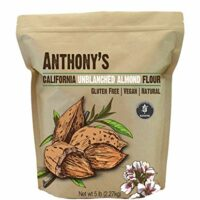 Anthony's Almond Meal/Flour, Natural Unblanched by Anthony's (5lb), Batch Tested Gluten Free