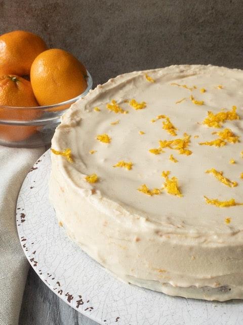 Keto Orange Glaze Cheesecake