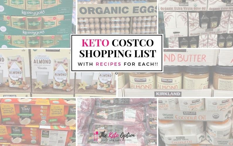 Keto Costco Shopping List with Recipes