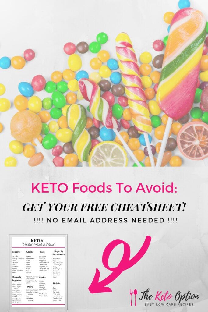 Keto Foods To Avoid Cheat Sheet