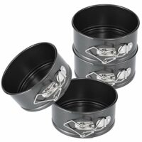 Hiware 4-Inch Mini Springform Pan Set - 4 Piece Small Nonstick Cheesecake Pan for Mini Cheesecakes, Pizzas and Quiches