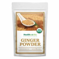 Healthworks Raw Organic Ginger Root Powder Ground (16 Oz / 1lb) | All-Natural & Certified Organic | Keto, Vegan & Non-GMO | Great with Coffee, Tea & Juices | Antioxidant Superfood/Spice