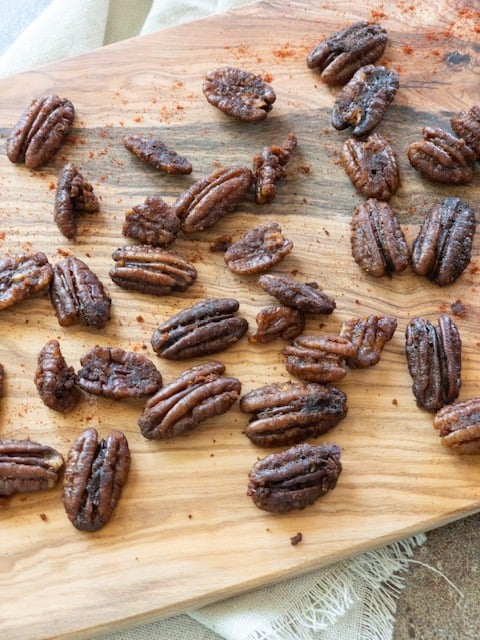 Sweet and Spicy Baked Pecans