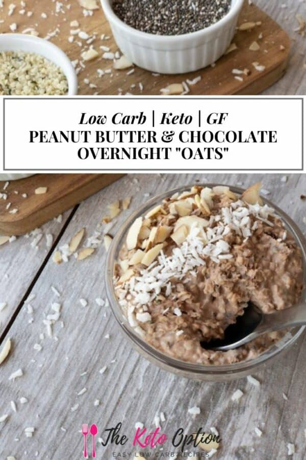 Keto Peanut Butter & Chocolate Overnight Oats