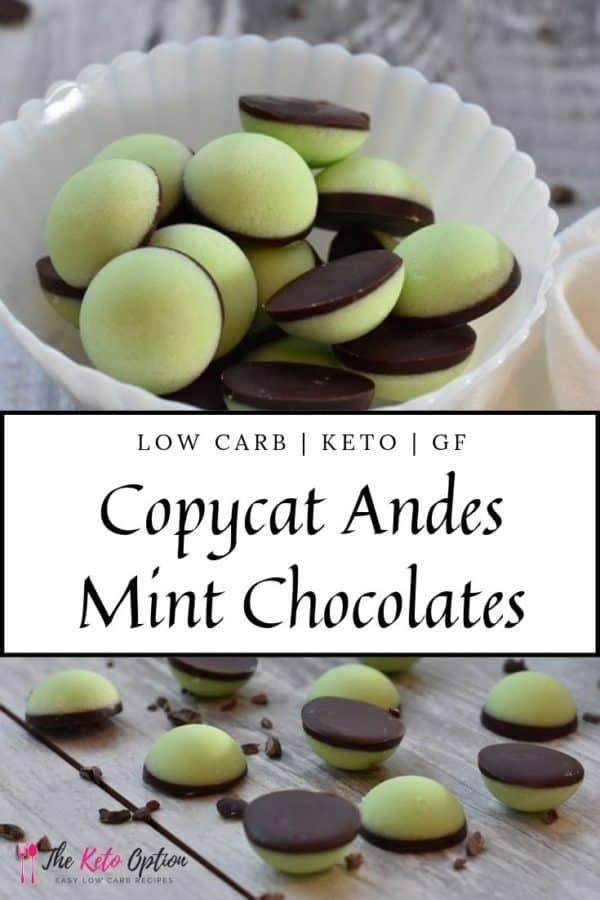 Keto Copycat Andes Mint Chocolates