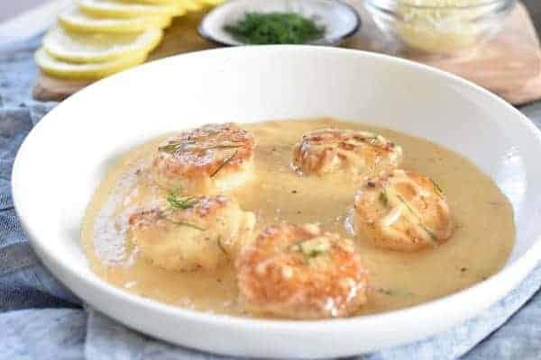 Keto Scallops in Garlic Cream Sauce