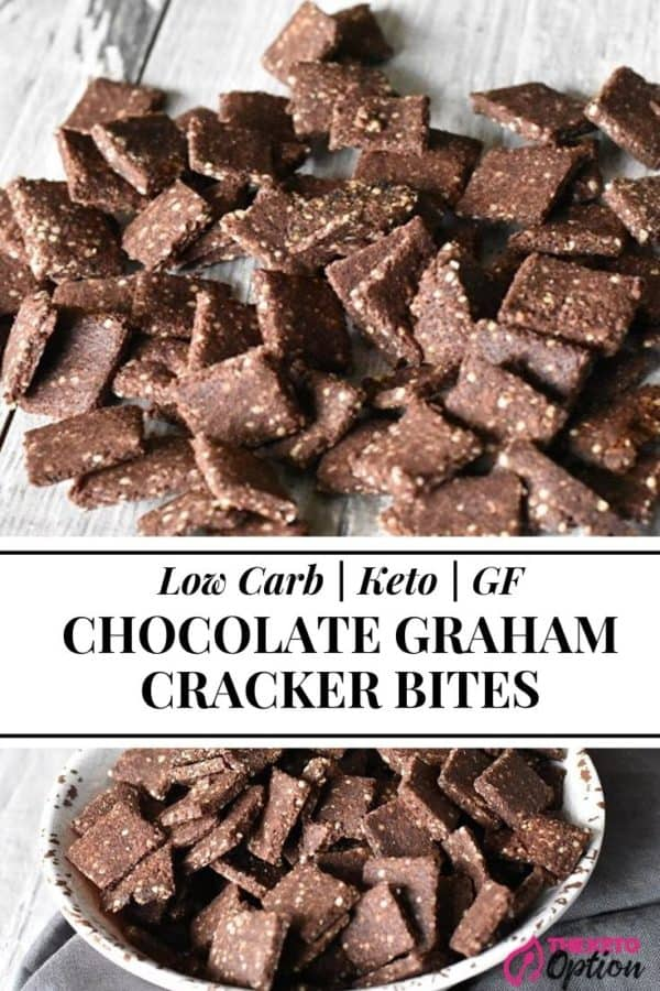 Keto Chocolate Graham Cracker Bites