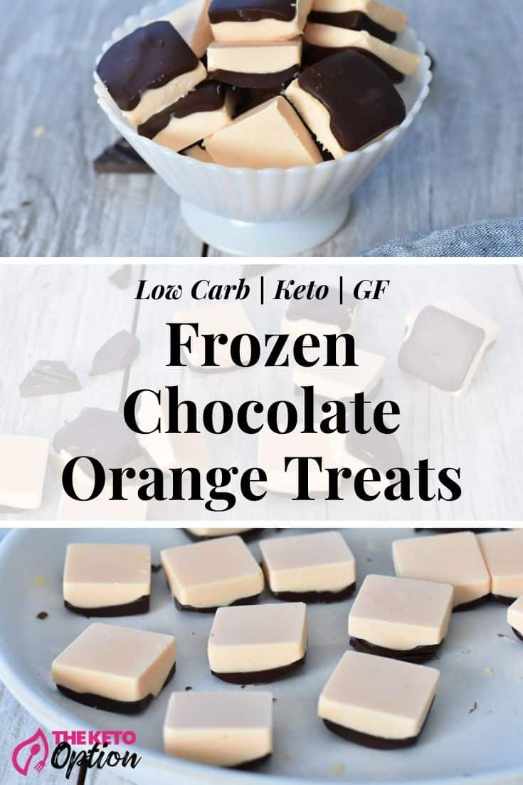 Keto Frozen Chocolate Orange Treats