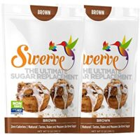 Swerve Sweetener, Brown Bundle, 12 oz pack of 2