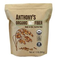 Anthony's Organic Oat Fiber, 1.5lb, Gluten Free, Non GMO, Keto Friendly, Product of USA