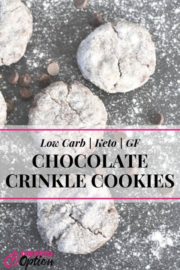 Keto Chocolate Crinkle Cookies