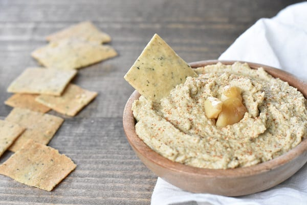 Roasted Garlic Keto Hummus