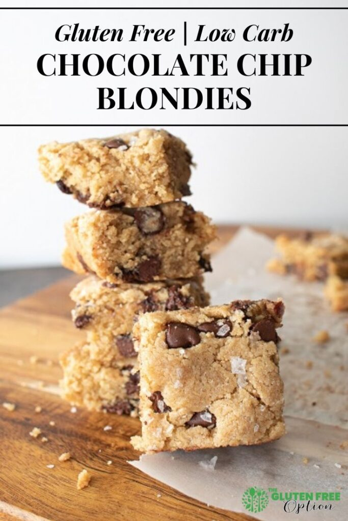 Low Carb Chocolate Chip Gluten Free Blondies
