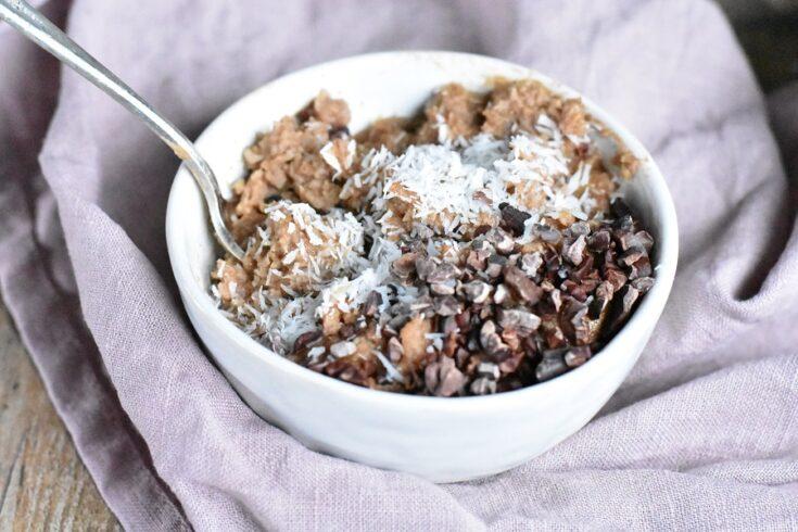 Chocolate Low Carb Oatmeal (Paleo, Keto)