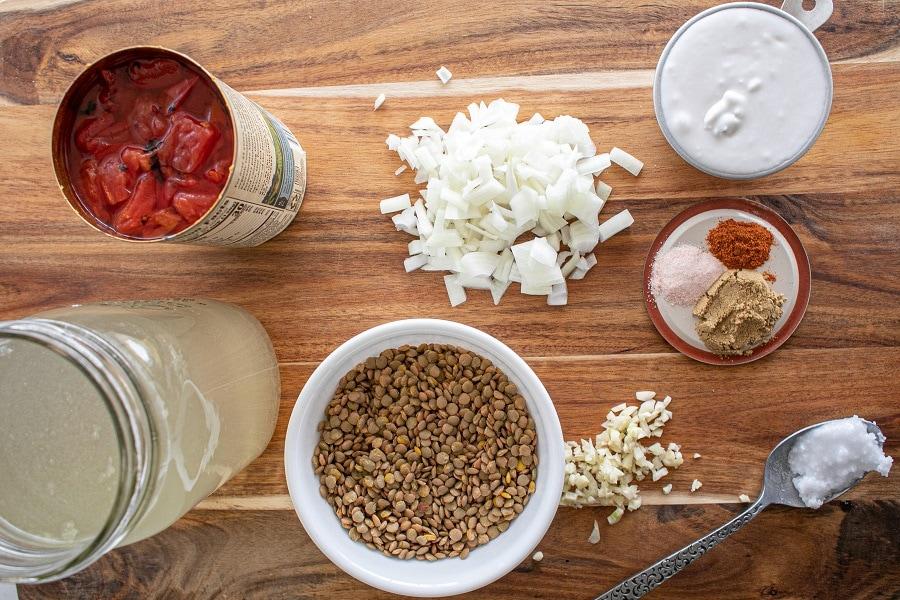 Gluten Free Lentil Soup - lentils