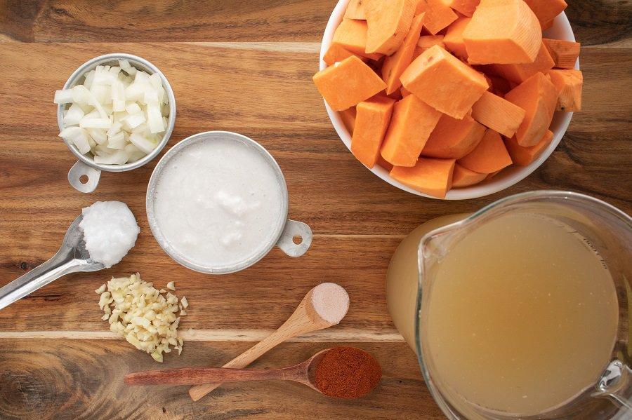 Instant Pot Paleo Vegan Sweet Potato Soup Ingredients