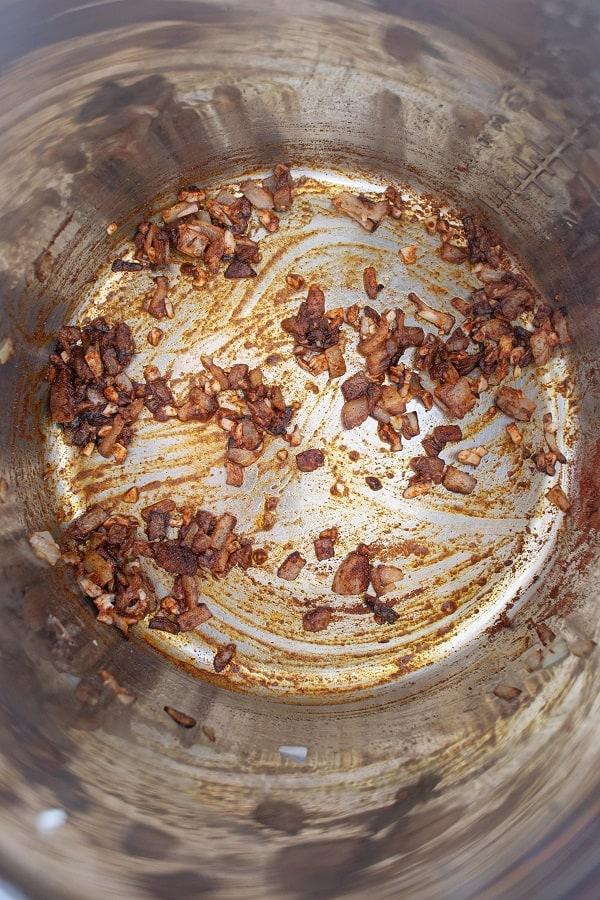 Instant Pot Paleo Vegan Sweet Potato Soup Cooking Onion