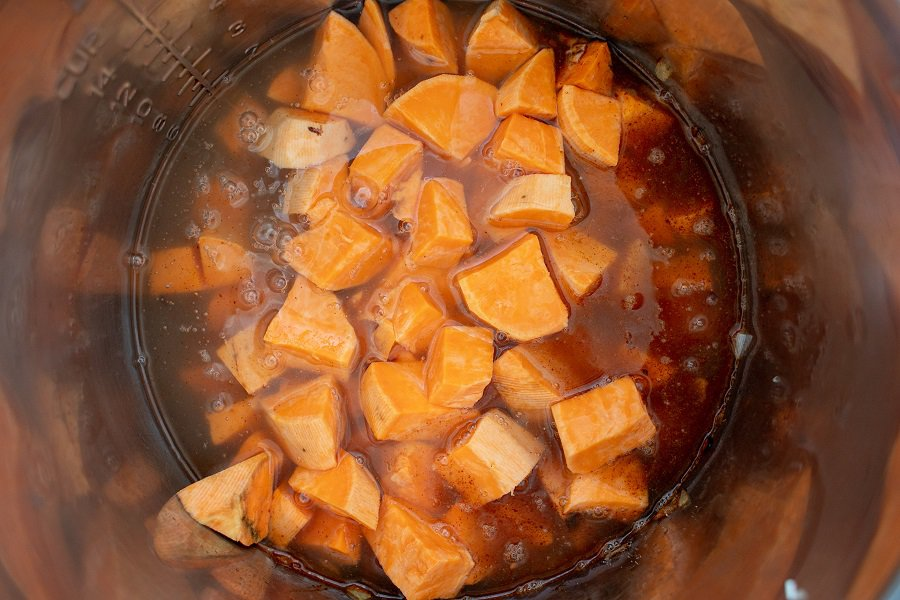 Instant Pot Paleo Vegan Sweet Potato Soup