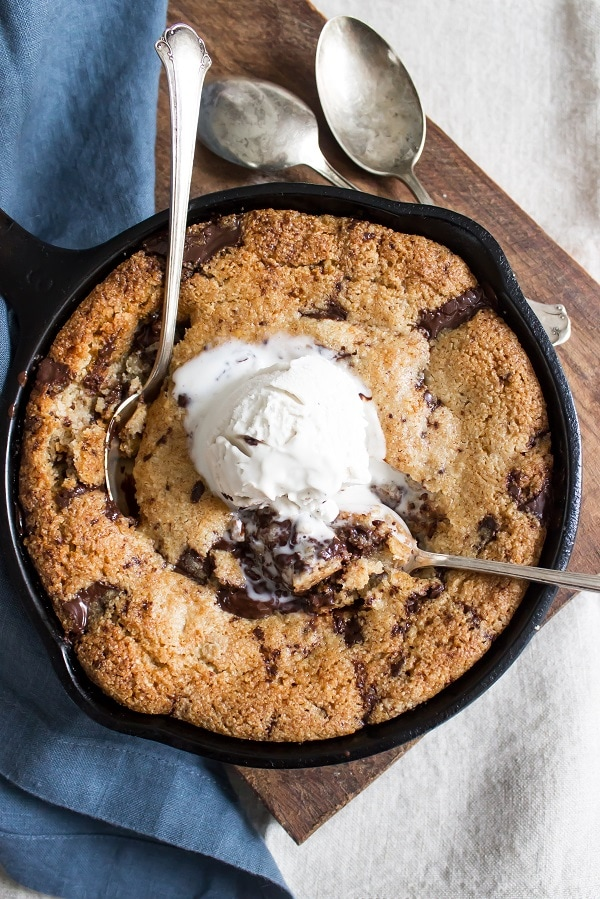 Chocolate Chip Skillet Cookie (Paleo)