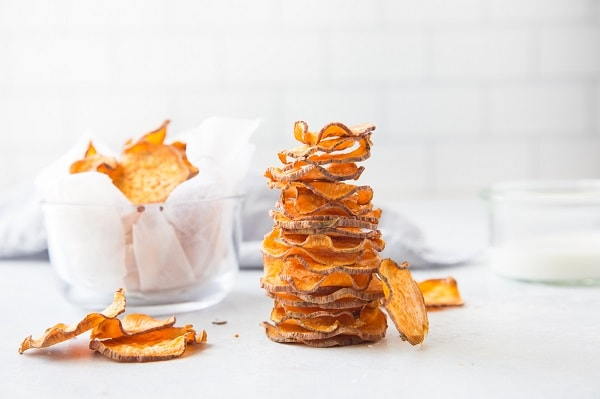 Baked Sweet Potato Chips (Low Carb, Paleo, Gluten Free)