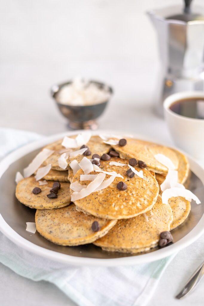 Keto Banana Pancakes with Poppy Seeds