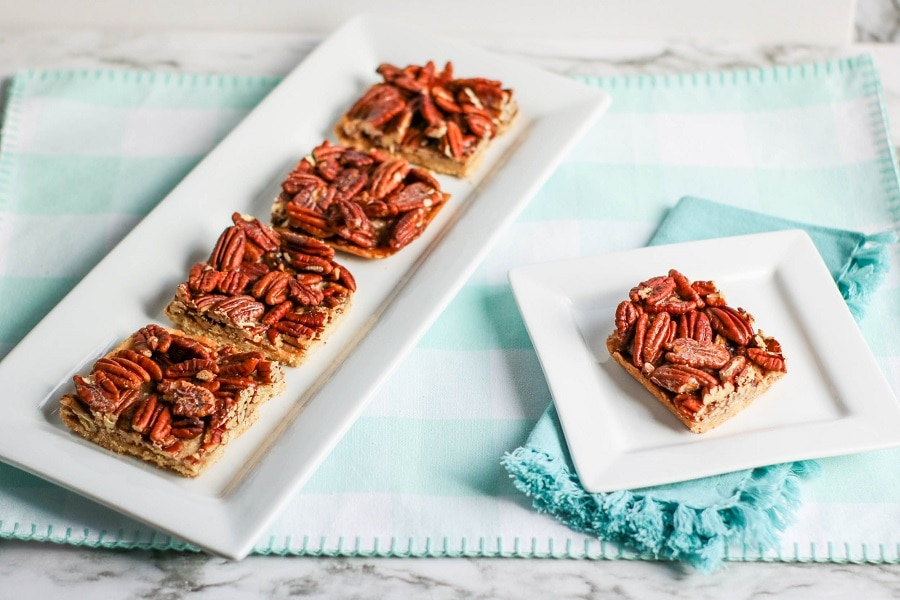 Keto Pecan Pie Bars
