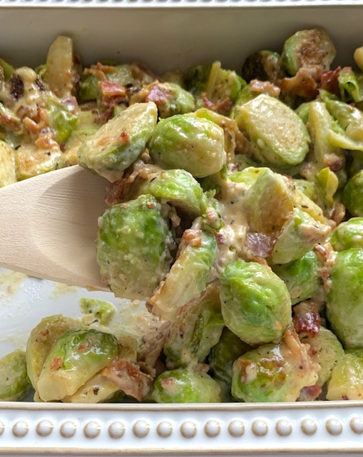 Keto Bacon Brussels Sprouts Casserole