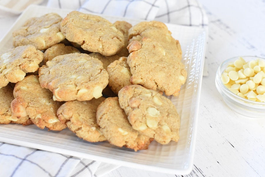 How to Make Keto Macadamia Nut Cookies with White Chocolate Chips