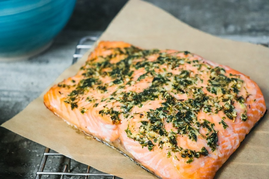 Keto Lemon Rosemary Salmon (Paleo)