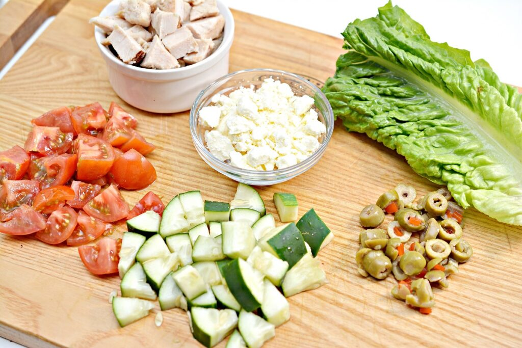 Greek Keto Lettuce Wrap Ingredients