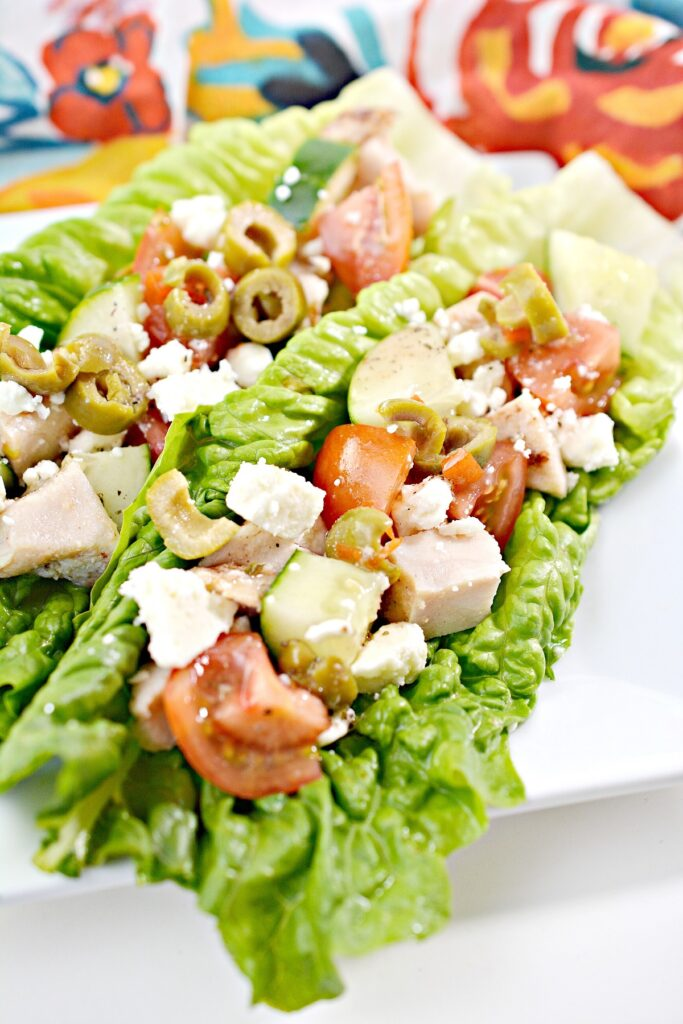Greek Keto Lettuce Wraps
