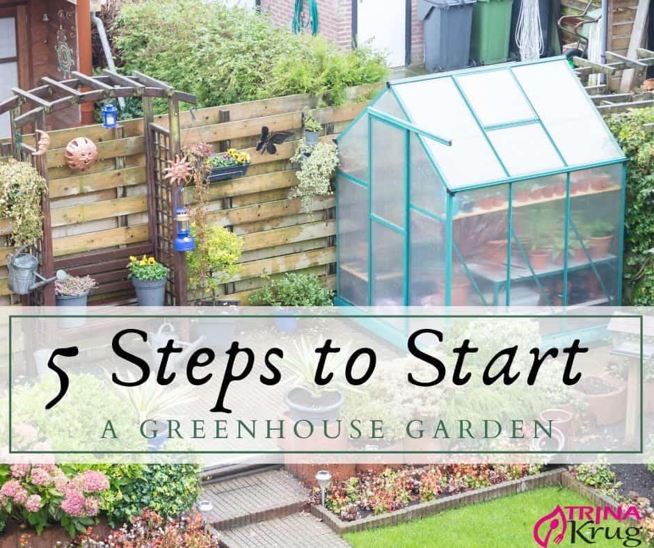 5 Steps to Start a Greenhouse Garden