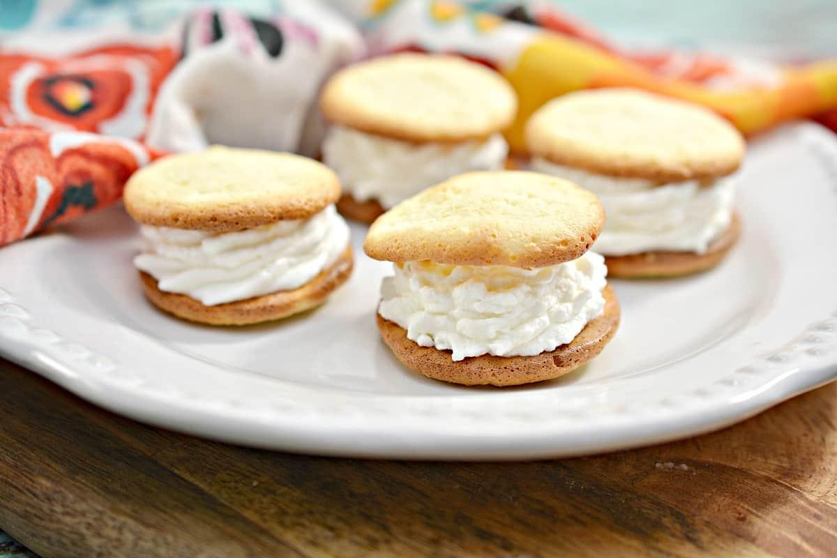 4 Keto Cream Puffs on White Plate