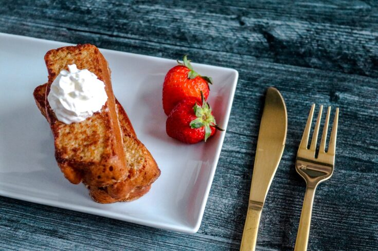 Keto French Toast on white plate