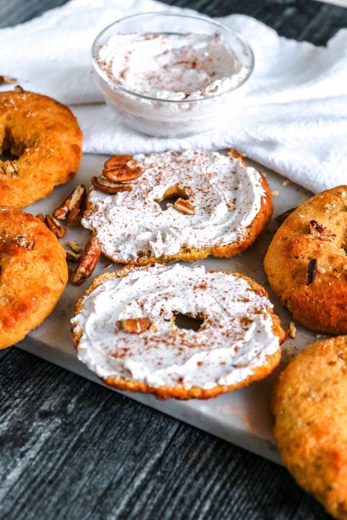 Keto Pumpkin Pecan Bagels